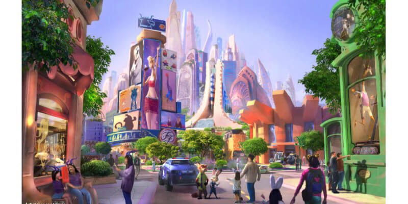 Zootopia-themed land at Shanghai Disneyland