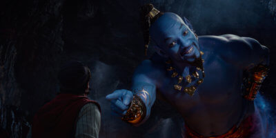 "Will Smith as the Genie from ""Aladdin."""