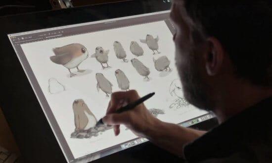 Disney porg drawings