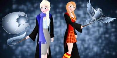 Disney Princesses Hogwarts