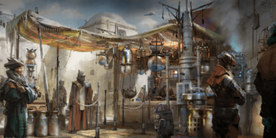 New concept art shows Star Wars: Galaxy's Edge Milk Stand, Docking Bay 7, Creature Stall
