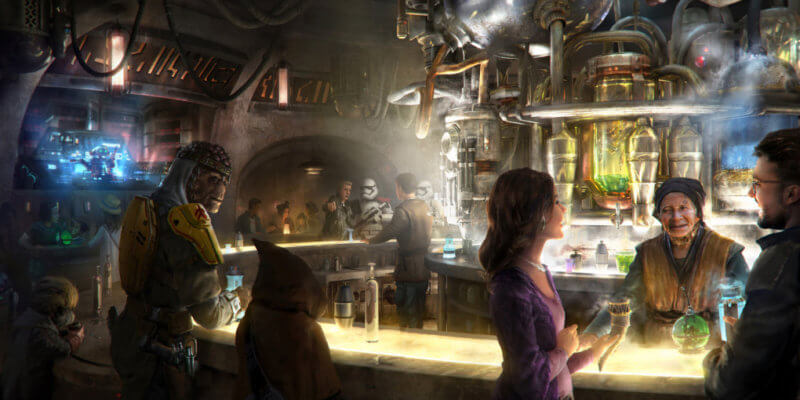 Inside Oga's Cantina at Star Wars: Galaxy's Edge