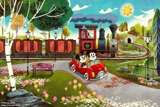 Mickey & Minnie's Runaway Railway Marquee
