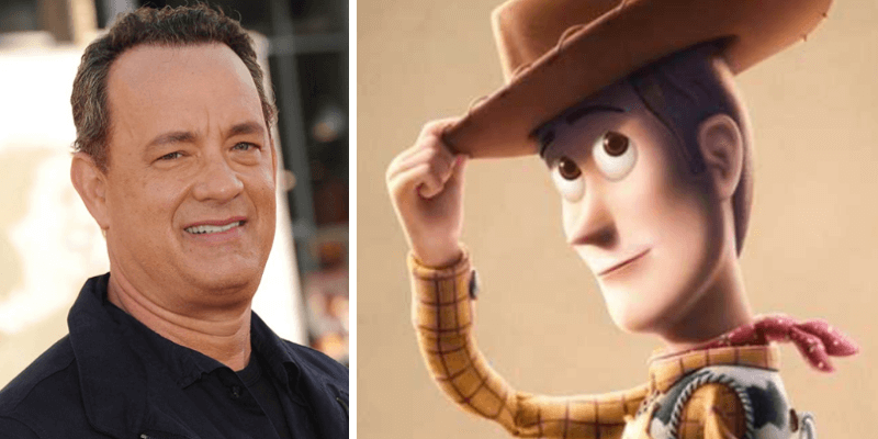 Tom Hanks and Woody from Toy Story 4