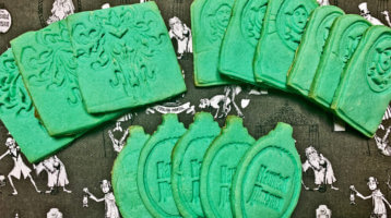 Homemade Haunted Mansion cookies