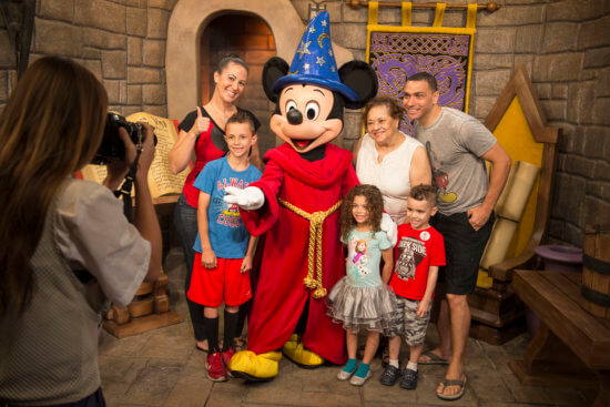 Mickey Mouse greets guests