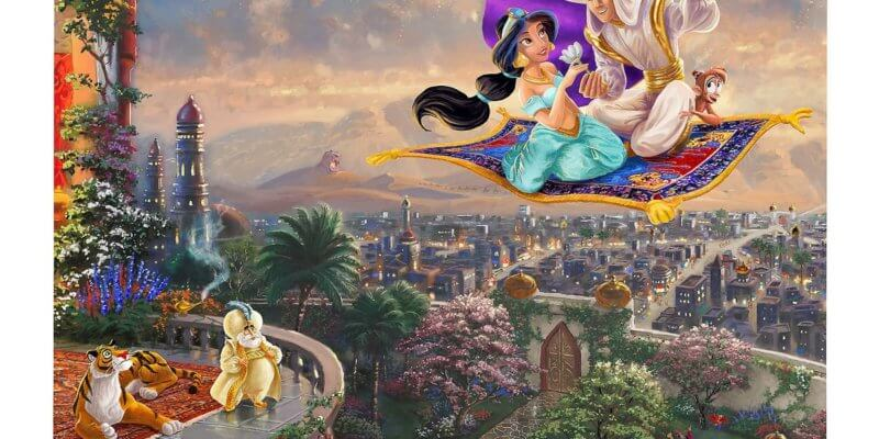 Aladdin painting and puzzle