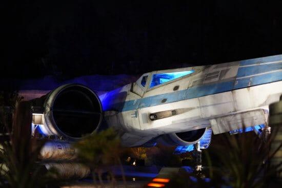 Star Wars plane at night