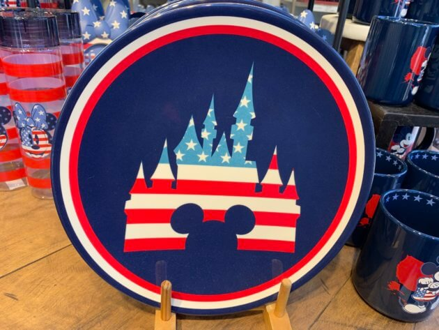 Mickey Mouse and Fantasyland Castle Americana Dinner Plate
