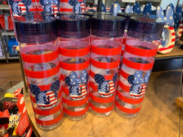 Mickey and Minnie Mouse Americana Water Bottles