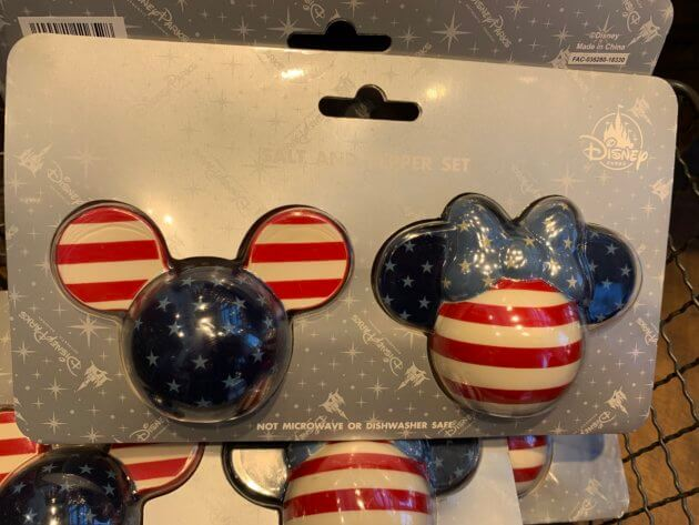 Mickey and Minnie Mouse Americana Salt and Pepper Set