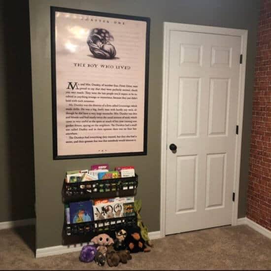 Hogwarts room - The boy who lived poster