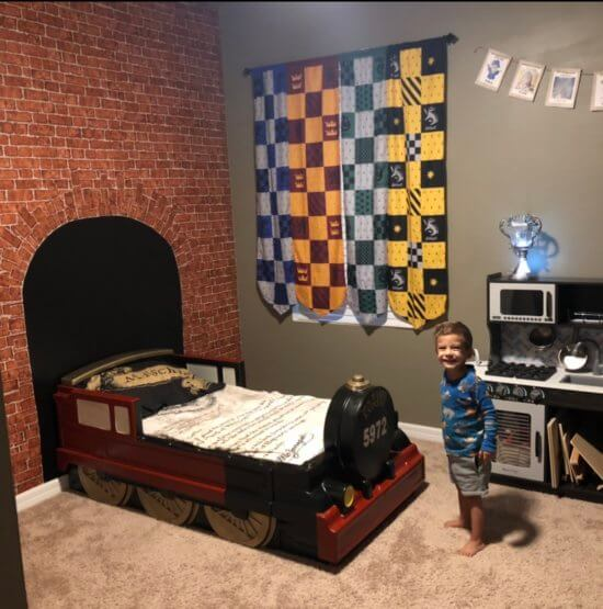 Cash and his Hogwarts Express bed