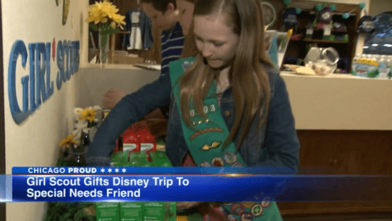 Girl Scout gifts Disney Trip to special needs friend
