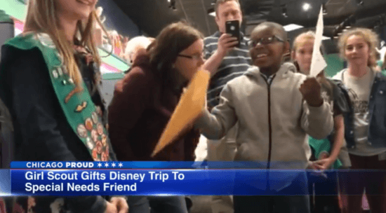Girl Scout sells cookies to win WDW trip for friend