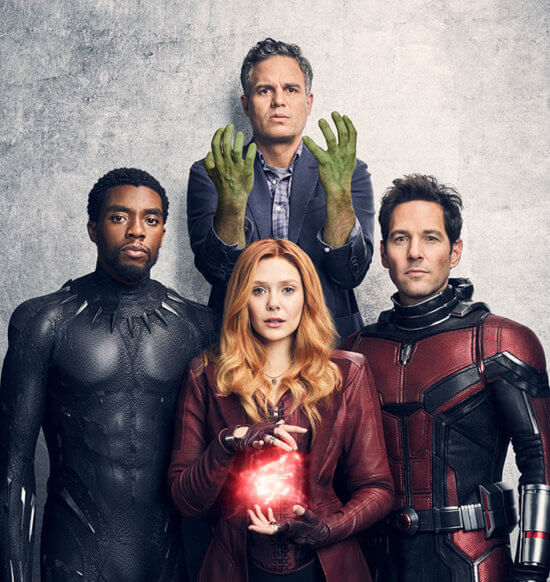 Hulk, Black Panther, Scarlet Witch and Ant-Man