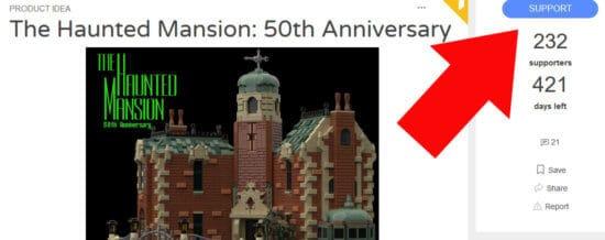 Haunted Mansion 50th anniversary LEGO set idea
