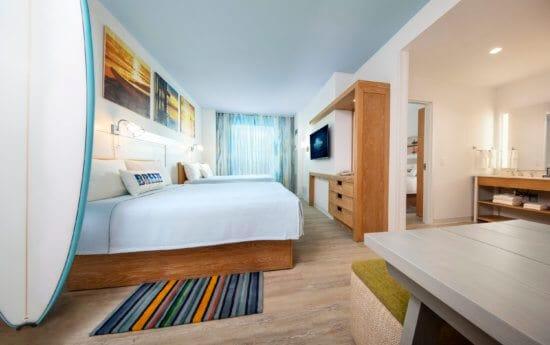 Bedroom at Universal Orlando's Endless Summer Resort – Surfside Inn and Suites