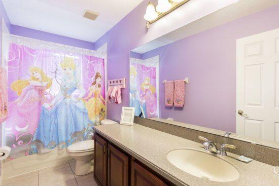 Walt Disney World vacation rental - Princess bathroom