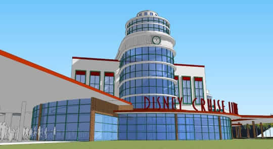 artist rendering of Disney Cruise Line Cruise Terminal 8