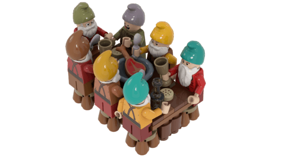 LEGO Seven Dwarfs Dinner