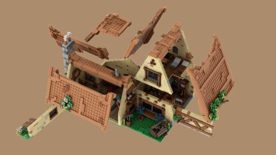 LEGO Seven Dwarfs removeable roof
