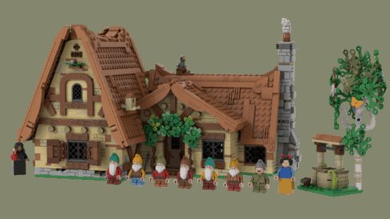 LEGO Seven Dwarfs mini-figs