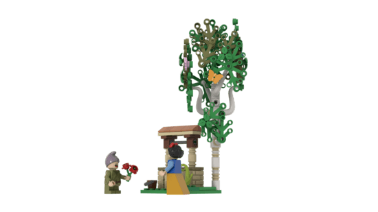 LEGO Seven Dwarfs wishing well