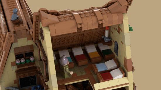 LEGO Seven Dwarfs beds