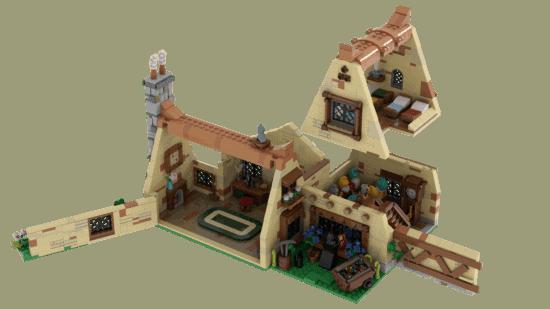 LEGO Seven Dwarfs open