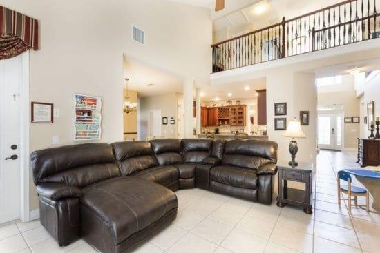 Walt Disney World vacation rental - living room