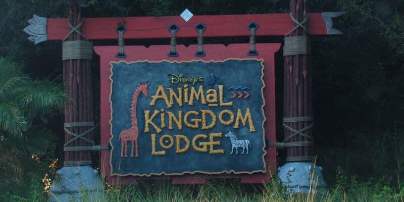 Disney's Animal Kingdom Lodge welcome sign