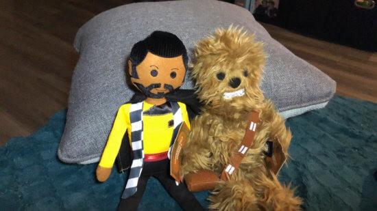 Chewbacca and Lando plushes