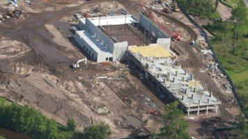 Star Wars Hotel aerial construction photo