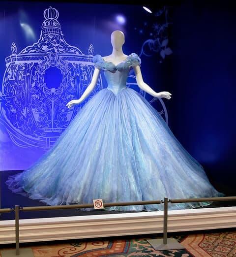 Cinderella gown worn by Scarlett Johansson for Annie Leibovitz's Disney Dream Portrait series
