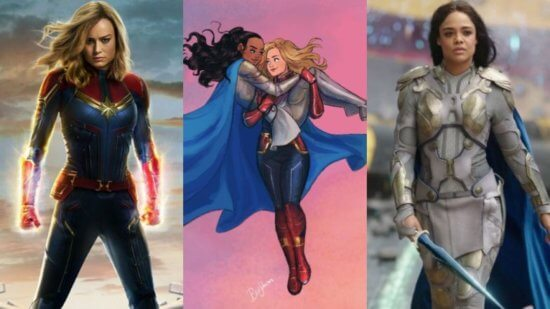 Captain Marvel and Valkyrie Marvel love triangle