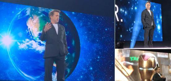 Robert Downey Jr on stage