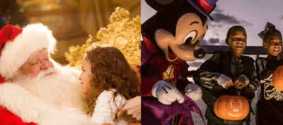 Disney Cruise Line itineraries Halloween and Christmas
