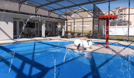 Frozen-themed pool