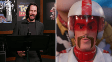 Duke Caboom Keanu Reeves behind the scenes