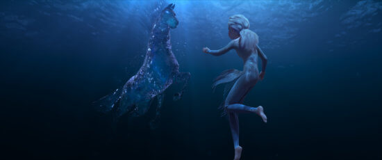 Elsa and horse shaped water spirit Frozen 2 story details