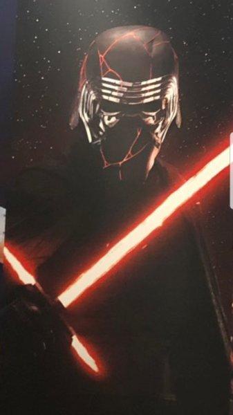 Kylo Ren with new helmet