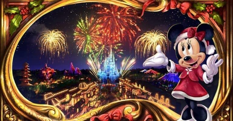 New Minnie's Christmas fireworks show