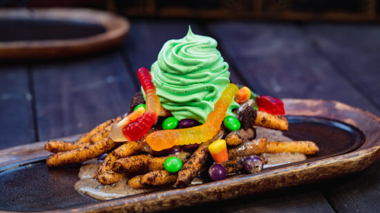 Oogie Boogie-inspired funnel cake fries