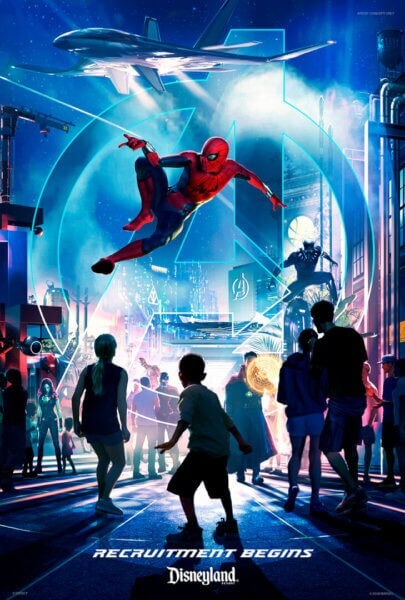 Marvel Land at Disneyland poster
