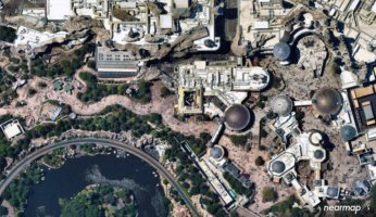 aerial image of galaxy's edge