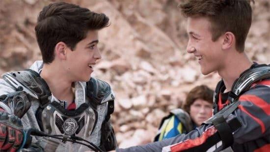 "Gay teen couple in ""Andi Mack"""