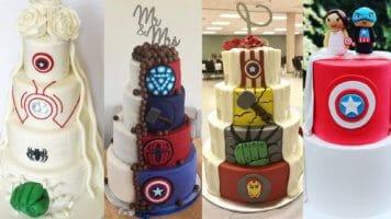 Marvel-inspired wedding cakes