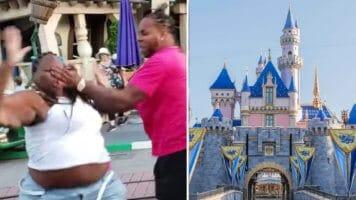 Family fight at Disneyland