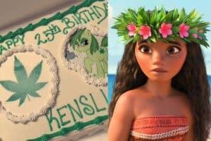 Moana Marijuana cake
